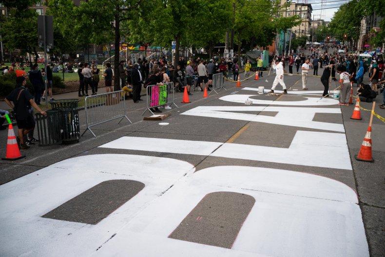 Black Lives Matter Mural Seattle, Washington