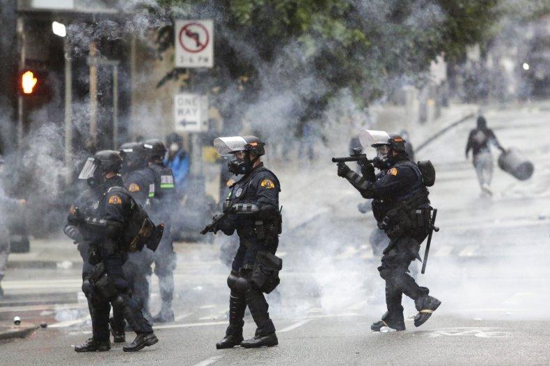 seattle, tear gas