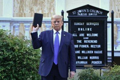 Trump at St. John's