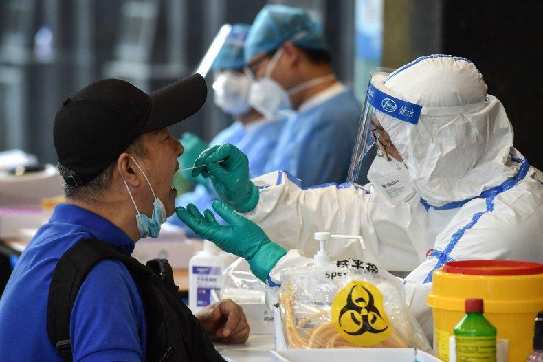 Coronavirus testing, Nanjing, China, June 2020