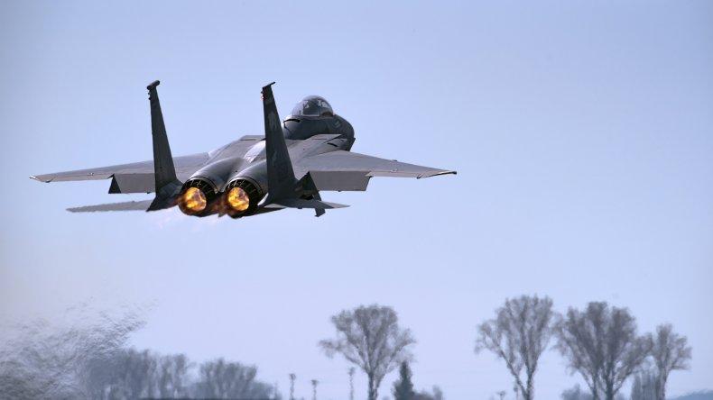 F-15, fighter jet, crash, UK, north sea