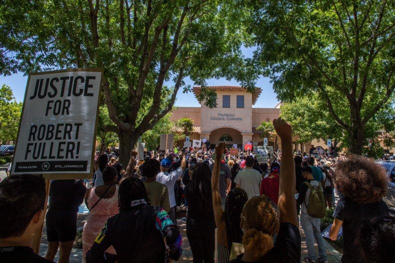 Robert Fuller protest in California June 2020