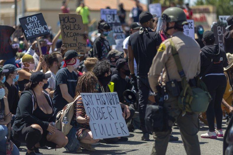 Robert Fuller protesters