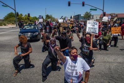 Robert Fuller protest, California, June 2020
