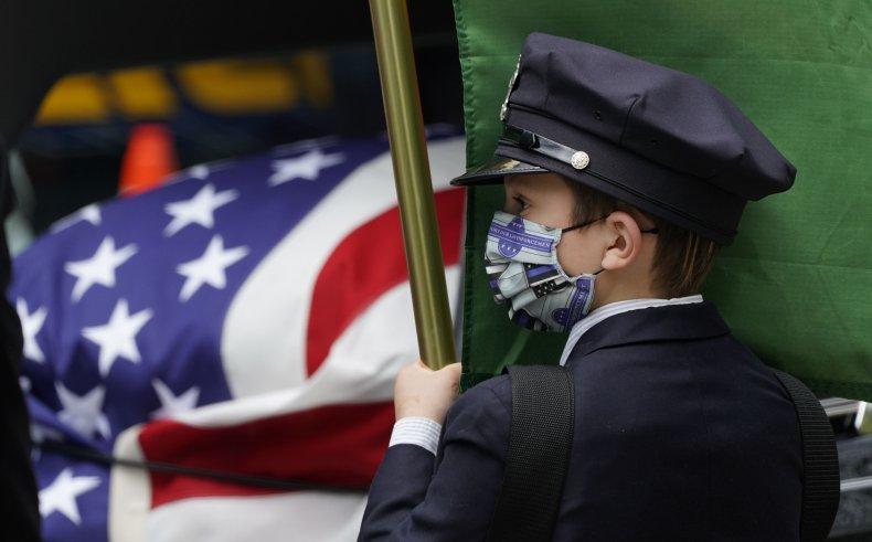 police officer coronavirus funeral May 2020