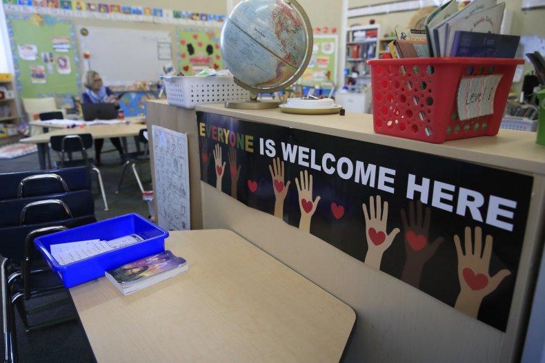 Elementary school classroom in Kentucky
