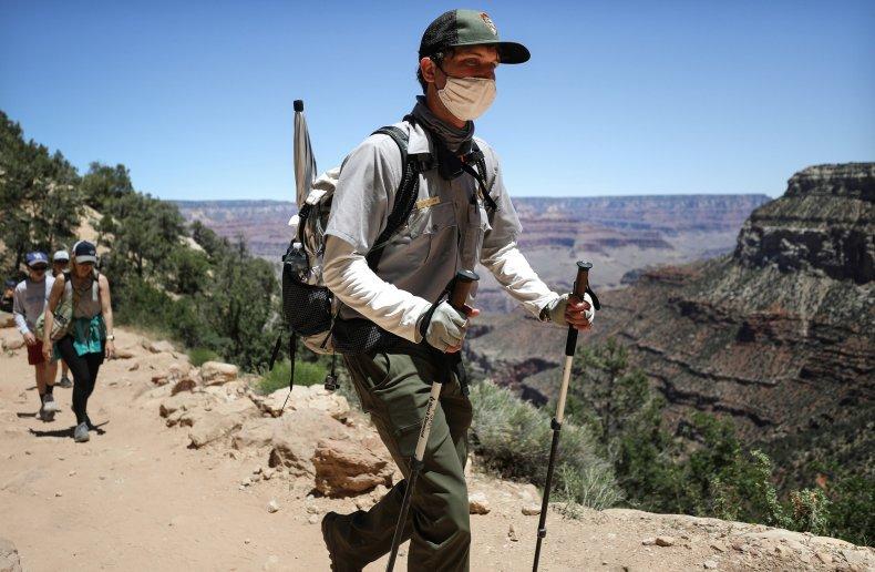 Grand Canyon National Park, Arizona, face mask