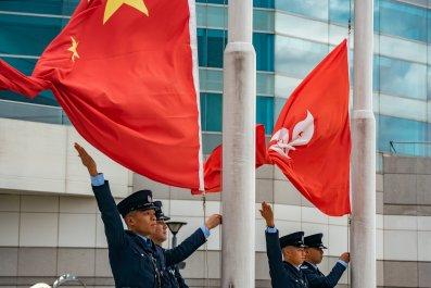 Hong Kong, China, flags, national anthem, schools