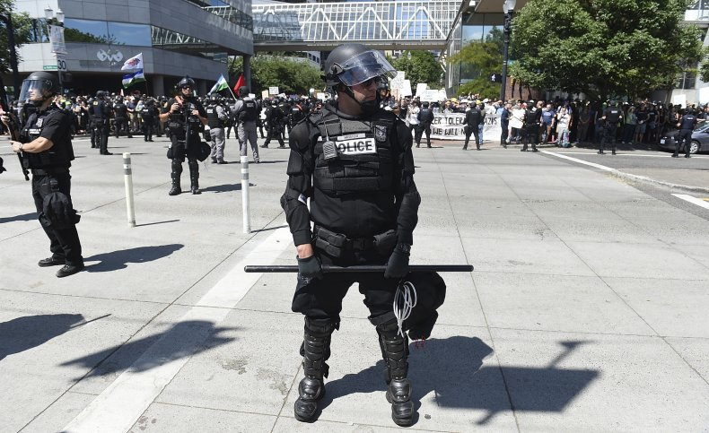 portland police names covered protests