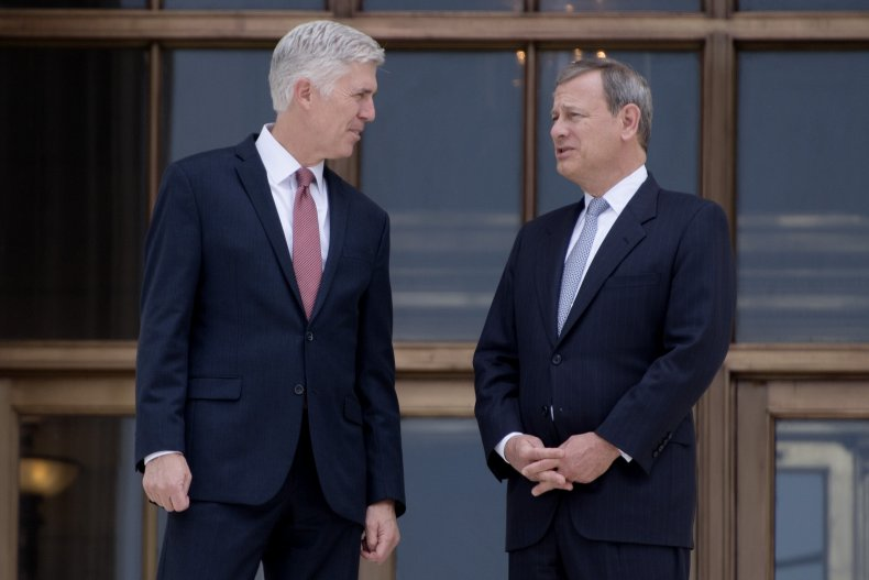 Justice Neil Gorsuch and Chief Justice John