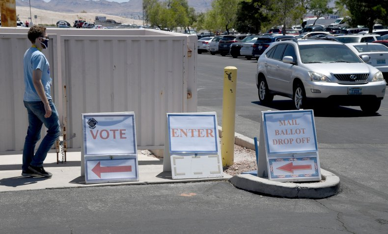 Mail ballot drop-off in Nevada