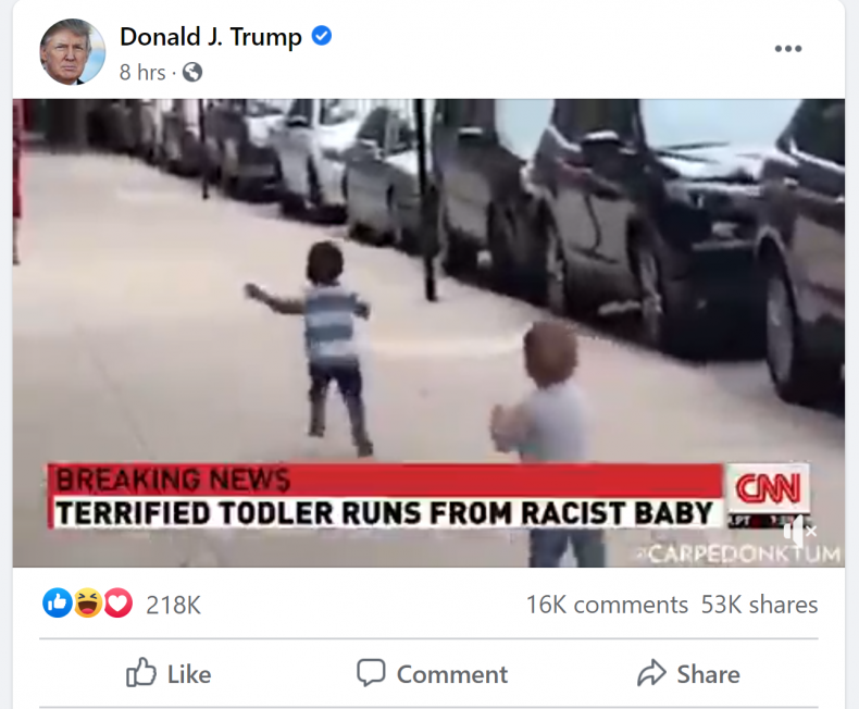 Trump Facebook post