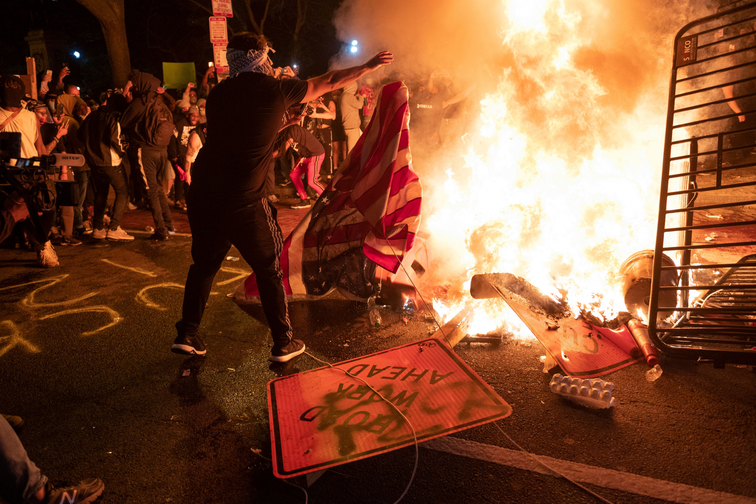 Trump Demands End to Flag Burning as Protests Rage, Statues Fall