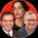 Ediberto Roman, Carrie Rosenbaum and Geoffrey Hoffman