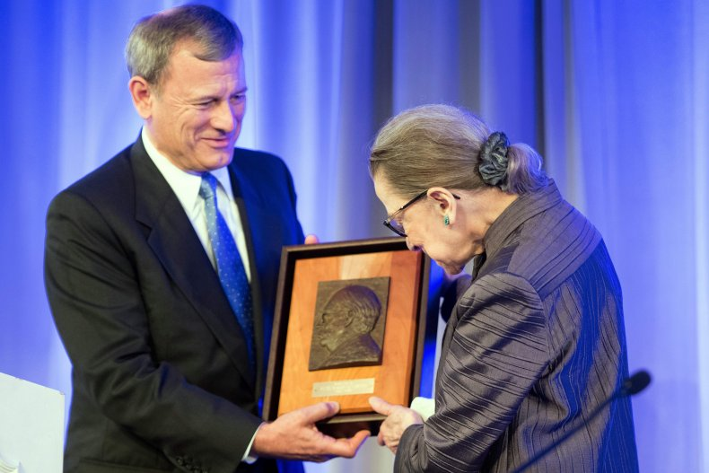 Chief Justice John Roberts and Justice Ruth