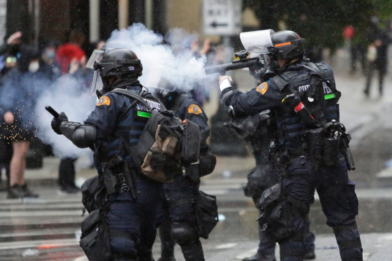 Seattle Protest Tear Gas