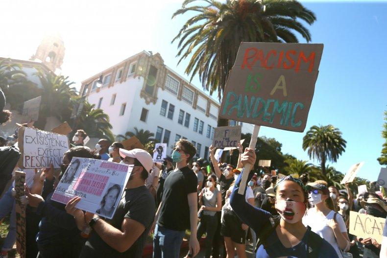 San Francisco protesters, George Floyd, June 2020