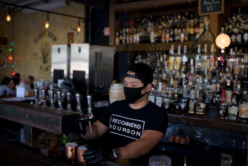 coronavirus Texas bartender Houston bar May 2020