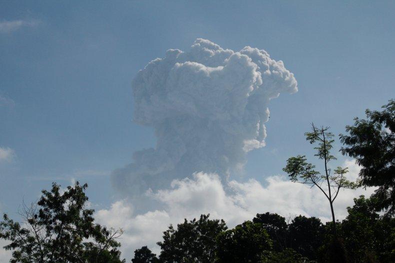Mount Merapi eruption, Indonesia