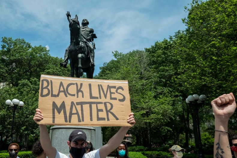 Black Lives Matter and George Washington Statue
