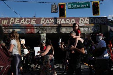 Demonstrators in Atlanta