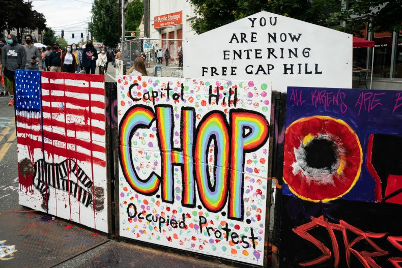 """So-called """"Capitol Hill Autonomous Zone"""" in Seattle"""