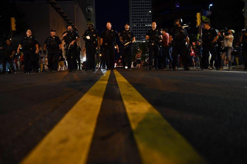 Police Trump rally