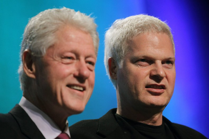 Bill Clinton and Steve Bing