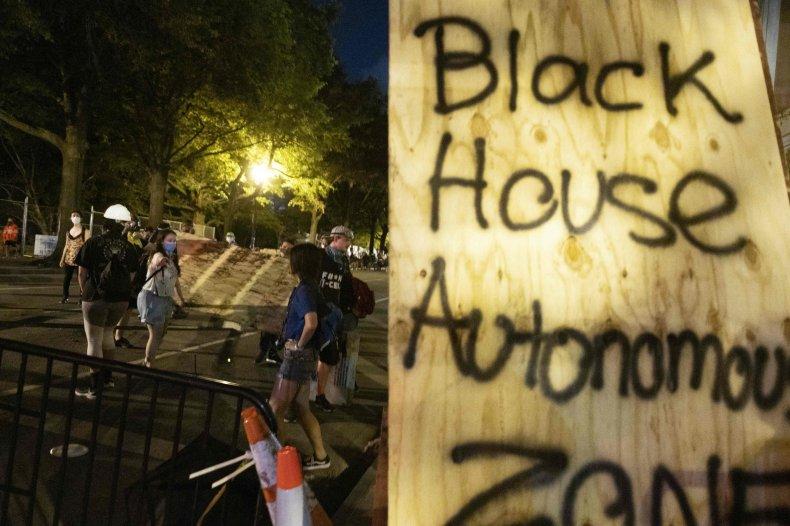 black house autonomous zone trump force