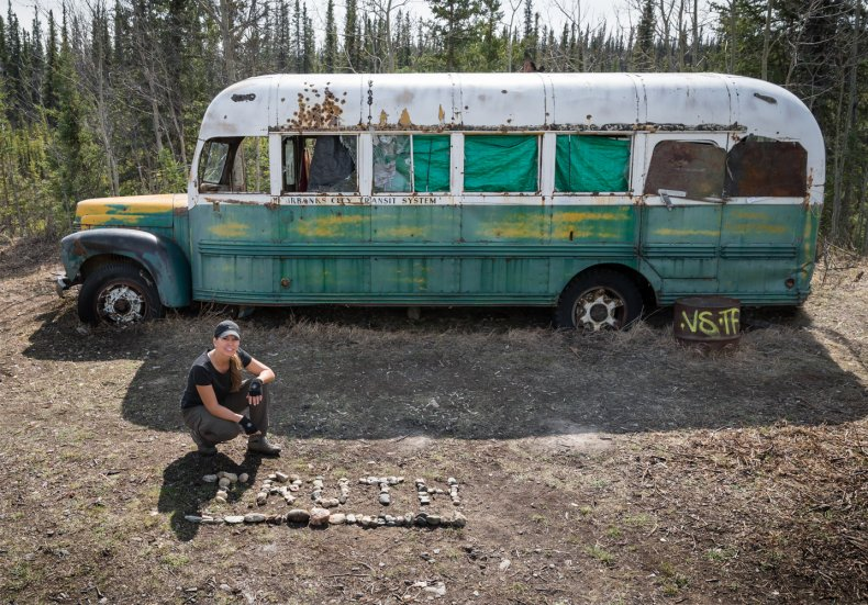 Carine McCandless Into the Wild bus 2014