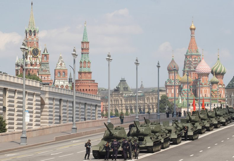 russia, victory, day, parade, tank, kremlin