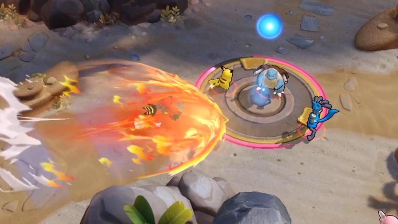 pokemon unite battle screen talonflame flare blitz