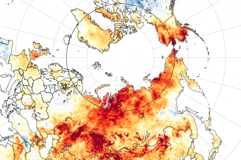 land surface temperature anomalies