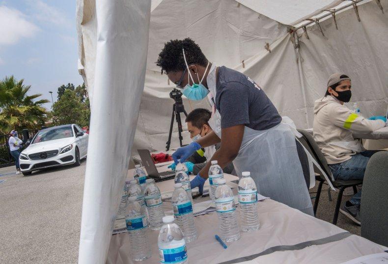 Coronavirus testing, California