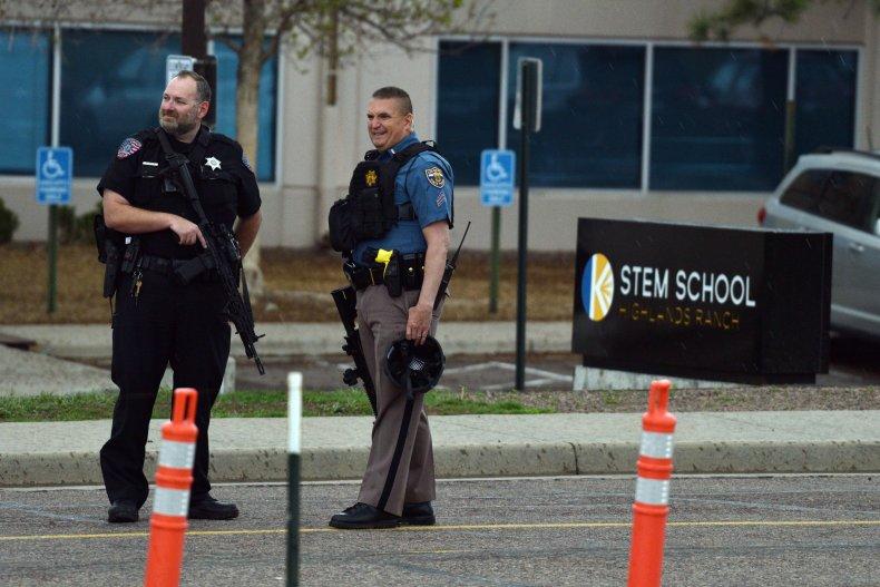 Police outside school in Colorado
