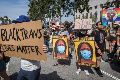 Protesters in Los Angeles