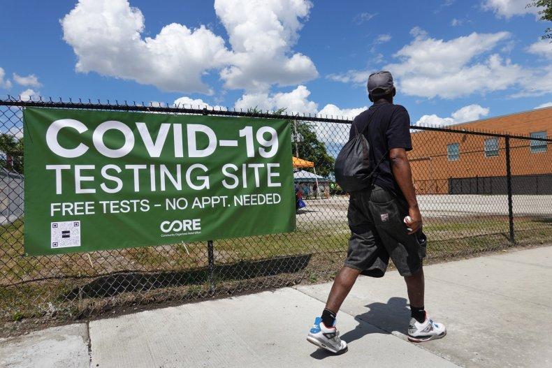 coronavirus testing site Chicago, Illinois June 2020