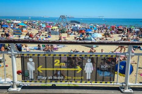Bournemouth beach during U.K. heatwave