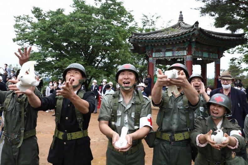 south, north, korea, war, anniversary, peace