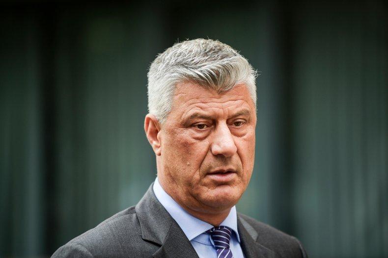 Kosovar President Hashim Thaci