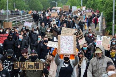 Black Lives Matter protest in Wales