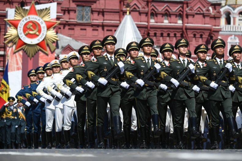 china-military-russia-victory-day-parade U.S. and Russia Battle on Twitter Over China's Role in Nuclear Weapons Deal