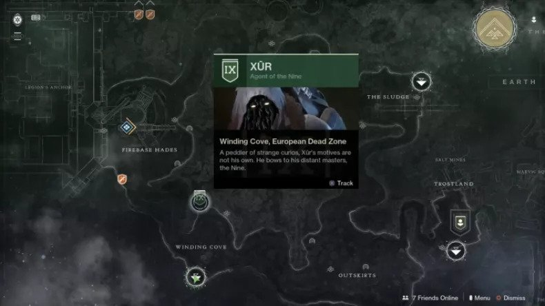 destiny 2 xur location 6-26-20