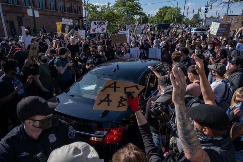 George Floyd protest, Detroit, Michigan, May 2020