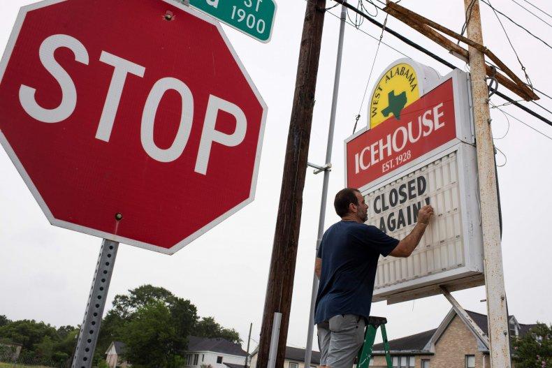 Houston bar closed coronavirus Texas June 2020