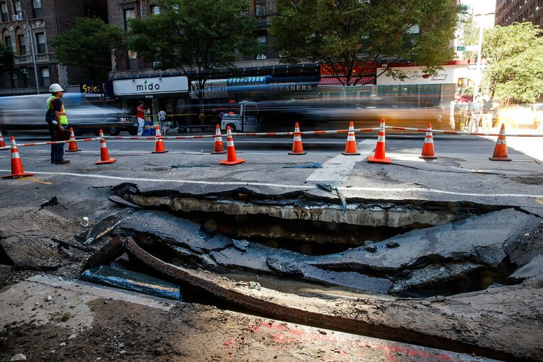 Sinkhole Forms In Manhattan