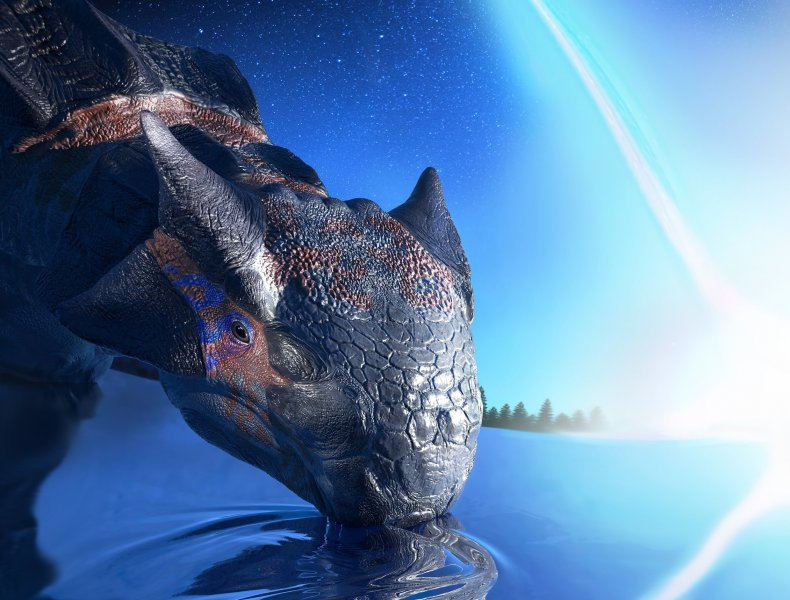 dinosaur, asteroid