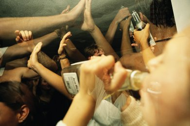 College students at a party