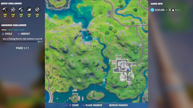 fortite lazy lake floating ring location 1