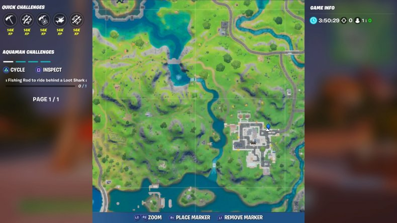 fortite lazy lake floating ring location 2